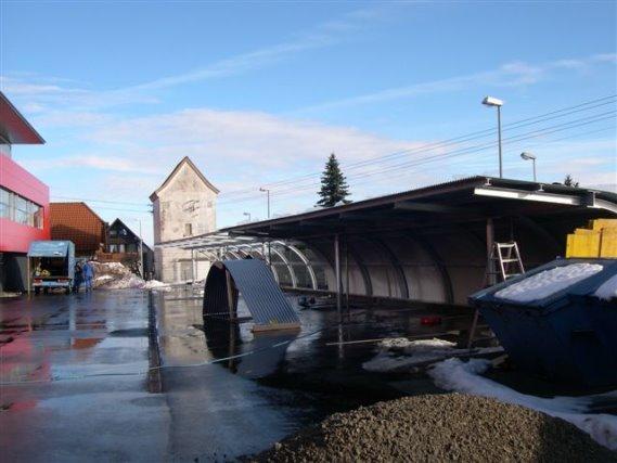 Neubau eines Carports, Heckler und Koch