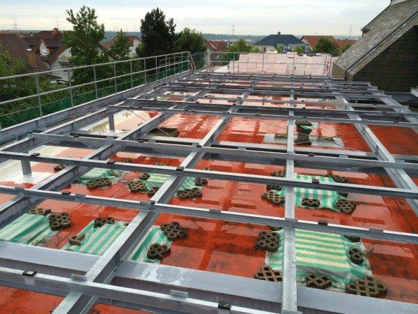 Lüfterunterkonstruktion für die Olympiasporthalle Gemeinde Nussloch