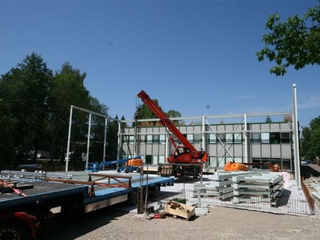 Neubau einer Produktionshalle Firma Wahl in Unterkrinach