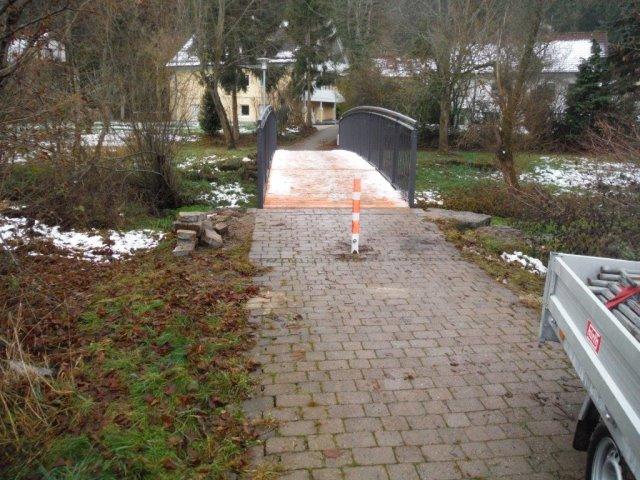 Sanierung einer Fußgängerbrücke