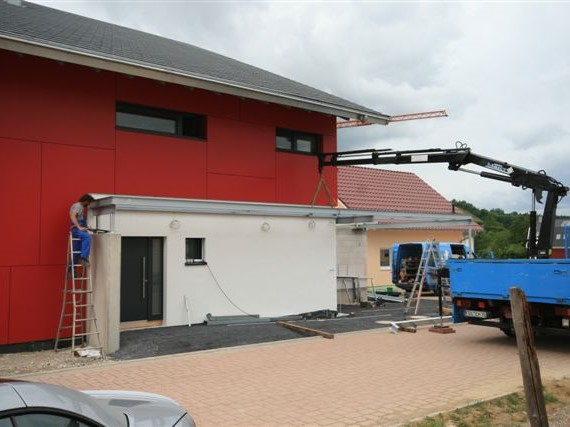 Anbau eines Balkons und Carport Bauvorhaben Henschel in Achern