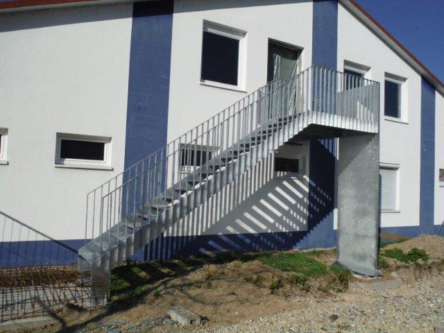 Fluchttreppen für THW Gebäude Achern, Breisach, Freiburg