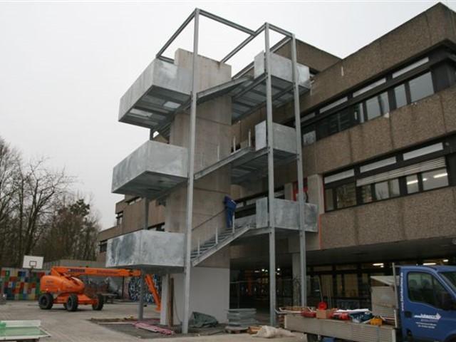 Fluchttreppenturm Schule Mühlacker