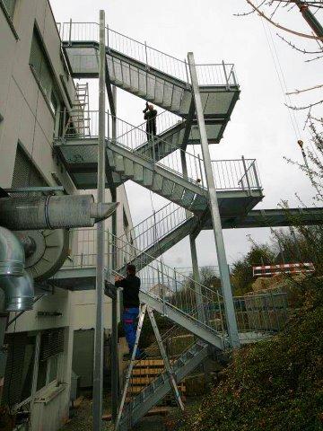 Fluchttreppenturm im Pforzheim