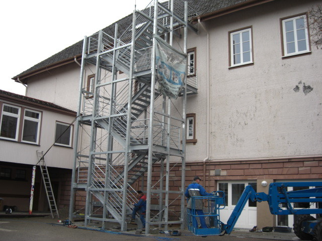Fluchttreppe Gymnasium Baiersbronn