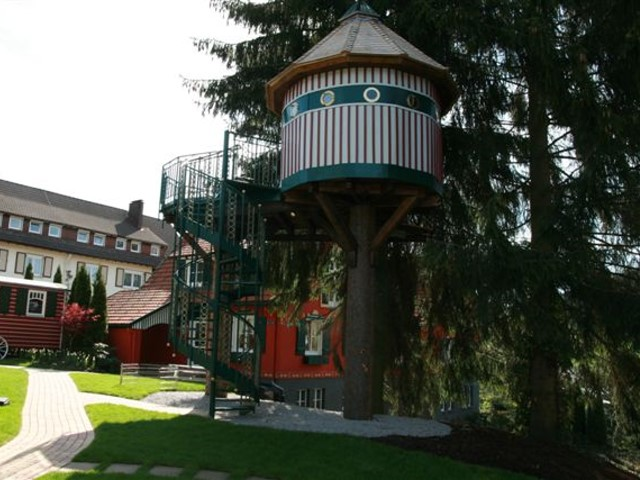 Spindeltreppe am Kinderspielhaus Hotel Bareiss