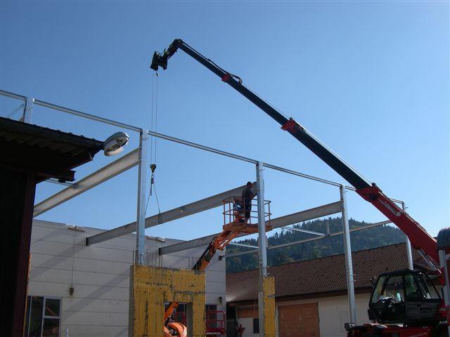 Anbau einer Lagerhalle in Kappelrodeck