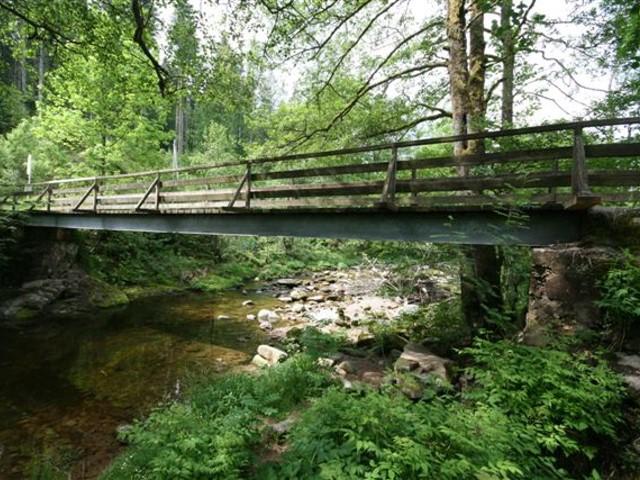 Rad- und Fußgängerbrücke in Schömünzach