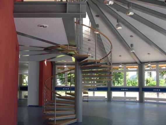 Treppen Innenbereich, Schülermensa Stadt Buchen