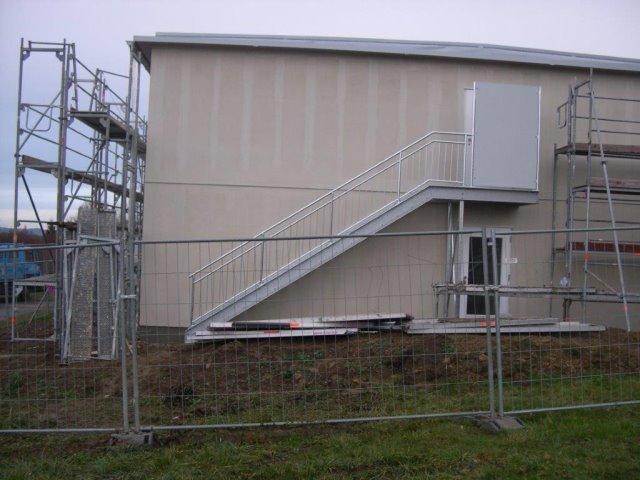Einbau Stahltreppe Wohnheim Bonndorf