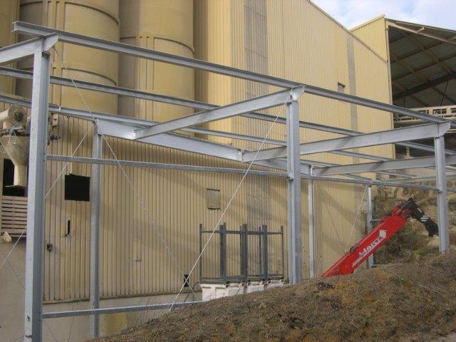 Stahlüberdachung in Merdingen