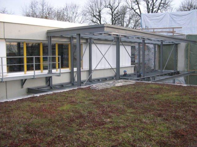 Bauvorhaben Verbindungsbrücke Käthe Kollwitz Schule in Sindelfingen.