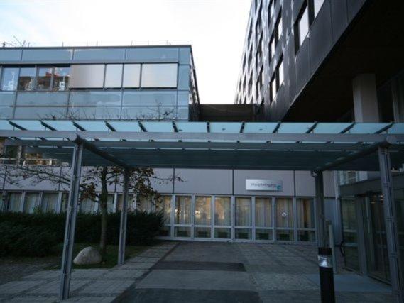 Eingangsvordach Kreiskrankenhaus Freudenstadt