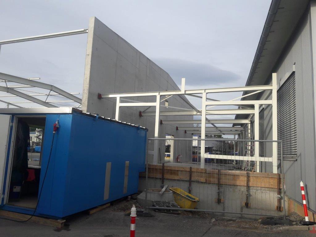 Neubau einer Halle in Engelsbrand