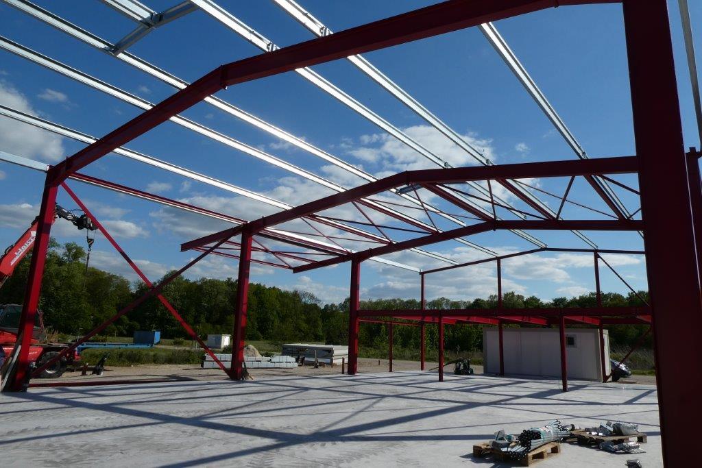 Neubau einer Halle in Renchen Stahlbau Haist