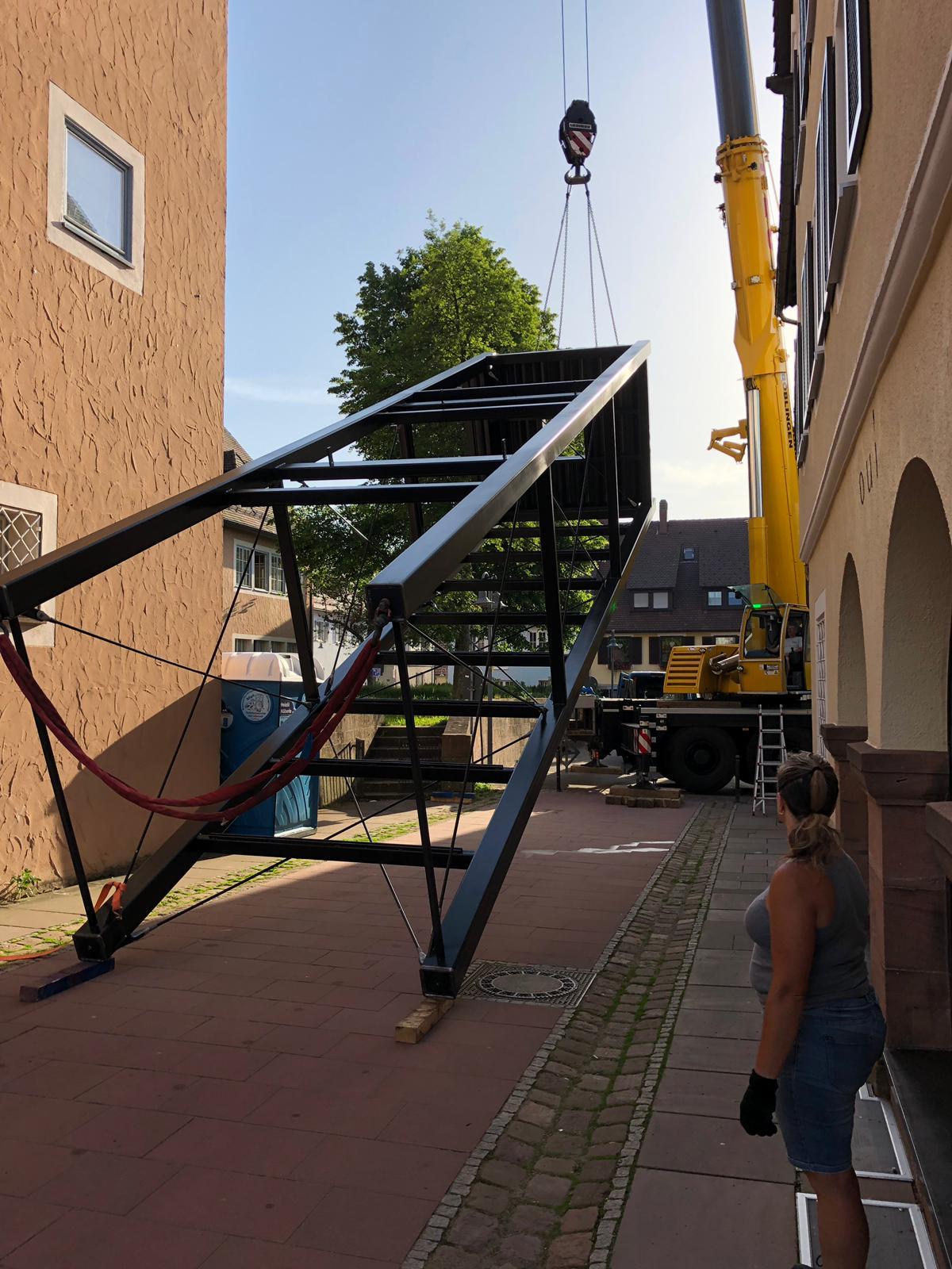 Aufzugsschacht Rathaus Freudenstadt Stahlbau Haist