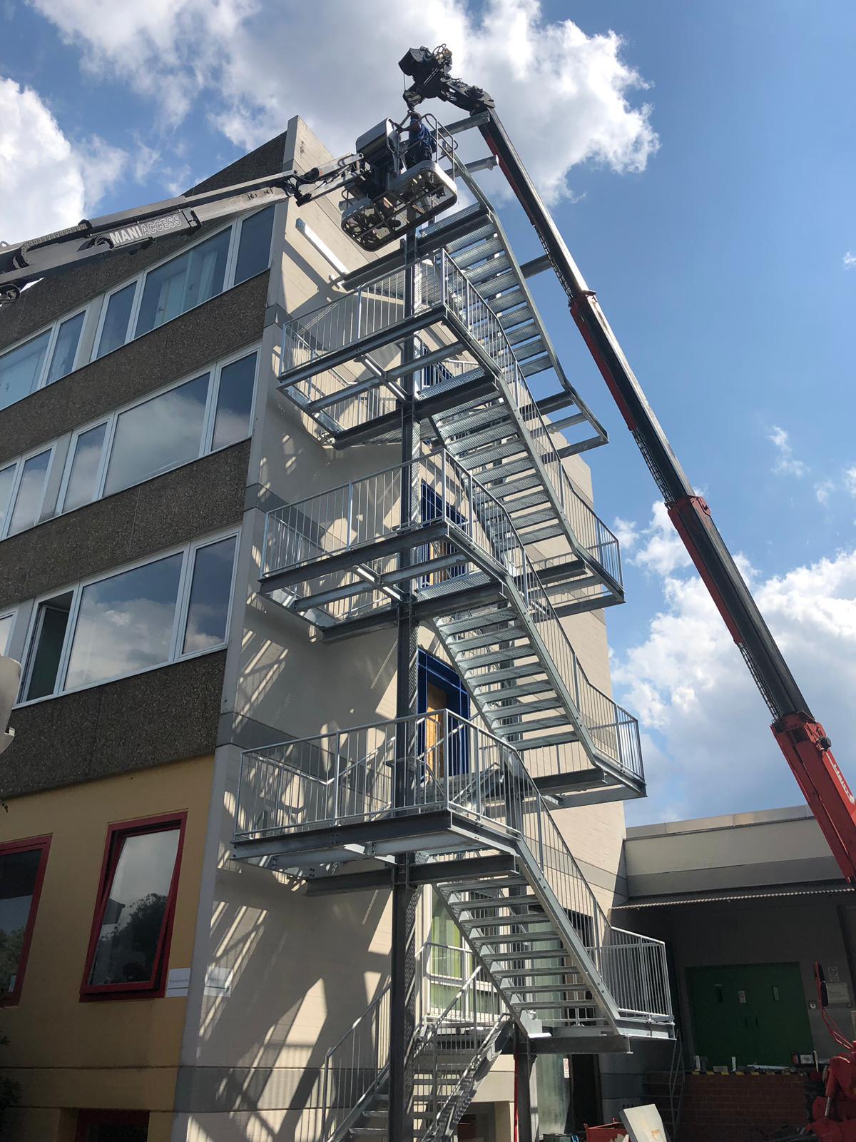 Flucht- und Rettungstreppe in Stuttgart-Vaihingen