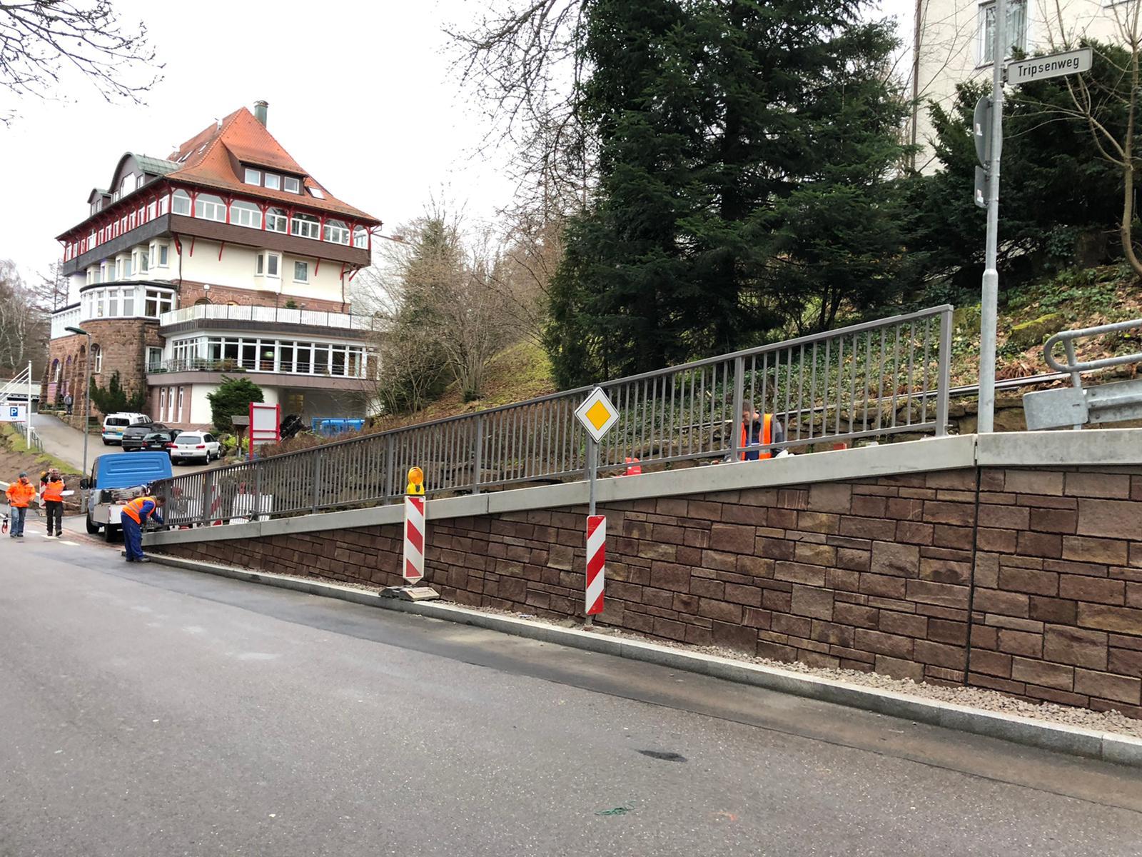 Straßengeländer in Freudenstadt Stahlbau Haist